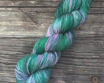 RTS - OOAK - 70/20/5 SW Merino, Nylon, Gold Stellina - Sock Yarn - Fingering Yarn - Variegated Yarn - Fluer Sock