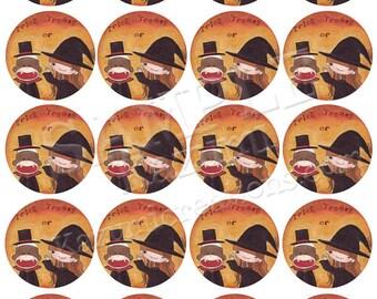 Printable Sock Monkey Halloween Stickers - A4 Sticker Download