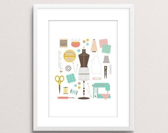 In My Sewing Closet print