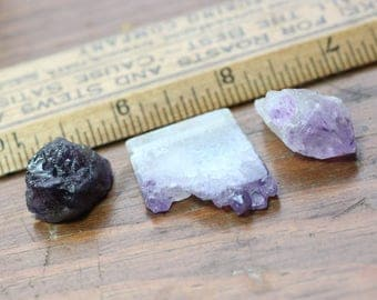 Amethyst Rough Nugget Beads Raw Gemstone Crystal Point Purple Stone Big Beads Stalactite Slice Jewelry Making Supplies