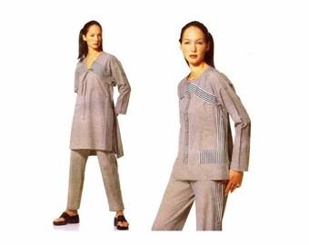 SALE Issey Miyake Tunic Caftan Top Pants Vogue 2127 Sewing Pattern Full Figure Size 18 Bust 40 Uncut