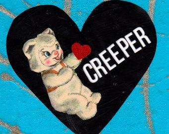 Creeper Valentine {Original Collage}