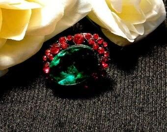 July 4th Sale Red Green Thumbtack Pushpin, Jeweled Thumb Tack Push Pin, Cork Board Accessory