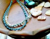Choker Necklace, Hemp Jewelry, Multi Strands Necklace. Tribal Jewelry, Surfer Chic, Afro Punk Jewelry, Boho Style