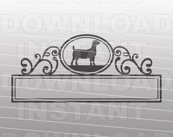 Show Goat Mailbox Nameplate SVG File,Livestock svg,Boer goat svg -Commercial & Personal Use- Vector Art for Cricut,Silhouette,HTV Vinyl