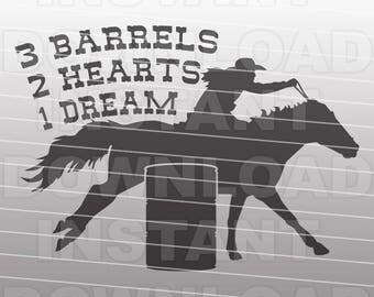 Barrel Racing Quote SVG File,Western svg File -Commercial and Personal Use- Vector Art SVG File for Cricut,Silhouette Cameo,vinyl cut file