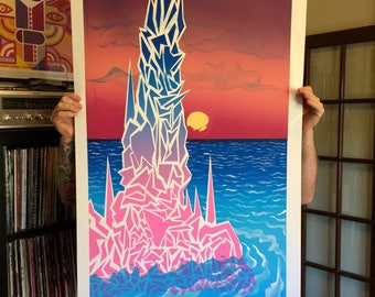 Spire large screen print