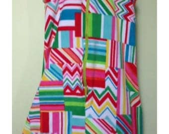 NEW-Fleece-Geo Zig Zag-Blanket Sleeper Sleep Sack-2-3T-Custom-Handmade