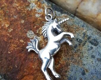 ON SALE TODAY Unicorn Necklace Charm - Sterling Silver Unicorn Necklace