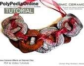 Polymer Clay Tutorial, Necklace Tutorial, Earring, Pendant, PDF Tutorial, Polymer Clay Beads, Jewelry Tutorial, Polymer Ceramic, Video