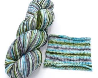 Thunderboom Watercolor Stripes - Self-Striping Targhee Sock Yarn Made to Order