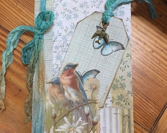 8x4 1/2 blank journal with Tim Holtz cover