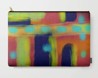 Funky Abstract Art Handbag Purse Clutch Bag Cosmetics Bag Makeup Bag Carry All Pouch