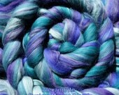 4 oz Alexandrite Custom Blend - 100% Merino - Spin, Felt, Create Fiber Art - Purples & Teal Greens