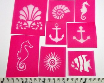 8 Nautical Silkscreen sampler kit for polymer clay, paper, fabric, glass, metal and more