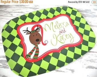 ON SALE Personalized Christmas Melamine Platter