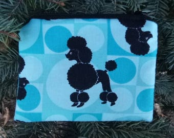 Poodle coin purse, gift card pouch, credit card pouch,  The Raven