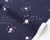 Cotton + Steel Eclipse - sun, moon, stars - navy - fat quarter