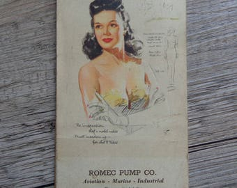 Vintage 1947 Advertising Pocket Calendar Note Pad Earl Moran Pin Up Girl