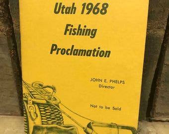 Utah 1968 fishing proclamation