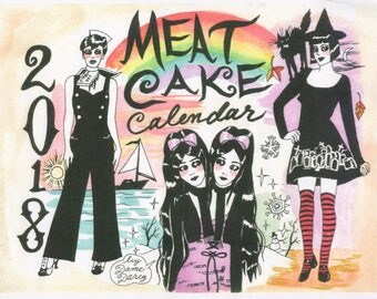 Limited!  2018 Calendar, Dame Darcy Meat Cake Calendar, Witch Calendar Almanac, Pagan Calendar