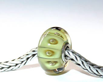Luccicare Lampwork Bead - Seeds -  Lined with Sterling Silver
