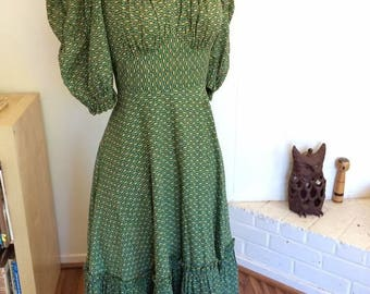 1940s Patio Dress - Small 34