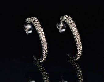 SALE SALE - Tentacle Earrings, 14K Gold, Octopus Earrings,  Octopus Jewelry - OctopusMe Hoop Earring