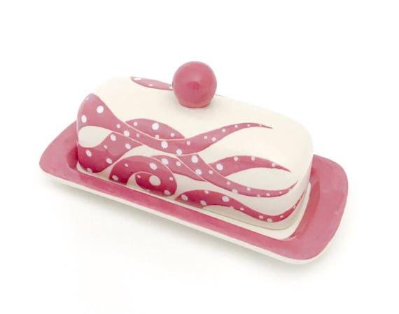 Octopus Knobbed Butter Dish