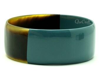 Horn & Lacquer Bangle Bracelet - Q11411-G