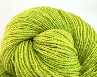 Mohonk Light Hand Dyed fingering weight NYS Wool 550yds 4oz Luciferase