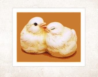 Ceramic Bisque Love Bird Figurine Home Decor or Cake Toppers DIY You Paint - Made to Order