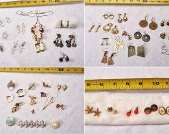 12oz Lot Mostly Vintage & Metal Jewelry Artisanal Copper Destash Findings Necklaces Pins Earrings Bracelets