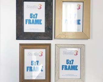SALE! Lot of 4 Wood Photo Frames - Fits a 5x7 Photo