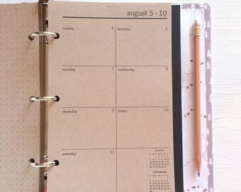 2017 / 2018 weekly planner sheets | august 2017 to december 2018