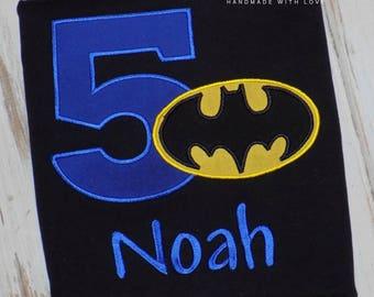 Superhero Birthday shirt, Super hero birthday shirt, Bat hero shirt, Bat hero birthday shirt, Boy Birthday shirt, sew cute creations