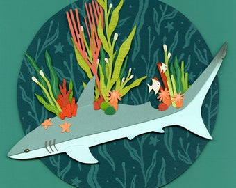 Original Collage: Reef Shark