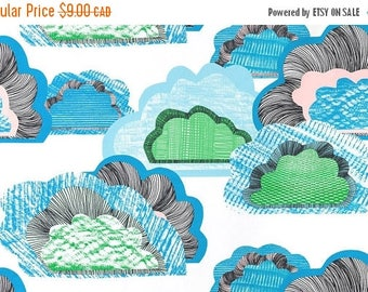 SALE - Summer Clouds - IKEA Doftranka Cotton Fabric