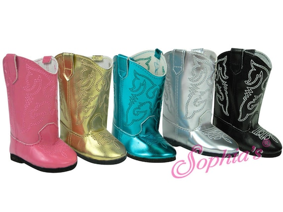 Western Boot With Stitching - 18 Inch Doll Shoes