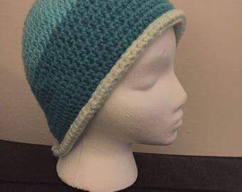 Crochet baby blues beanie