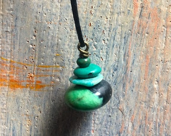 Wee Cairn Turquoise Pendant