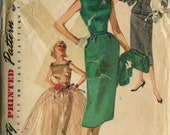 Vintage 50s Day to Evening Dress Pattern- Simplicity 1232- Size 12- Bust 30
