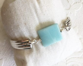 Amazonite Stone Spoon Handle Bracelet