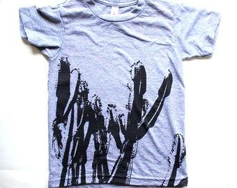 Cactus Kids Tshirt - Desert Southwest Style Kids Clothing - Unisex Cactus Tshirt for Kids - Modern Desert Design
