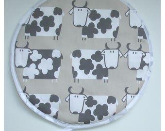 Cows Aga Hob Lid Mat Pad Round Hat Cover Cow Farm Farmyard Country Farmhouse Kitchen Topper With Loop