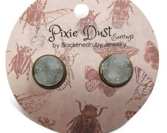 Milk White - Pixie Dust stud Earrings
