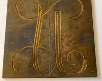 Letter U Vintage Engraving Plates Small Metal Plates for Personal Engraving , Altered Art, Collage and Jewelry Making.