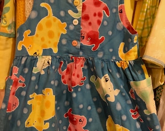 Handmade Puppy Dress Girls 5/6