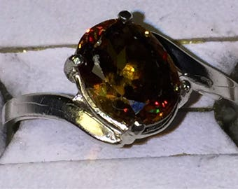Top color Change Sphene silver ring on hold for Tina!!