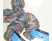 ON SALE Berroco Versa Green/Blue/Orange Multcolor Cotton Blend Yarn 2 skeins